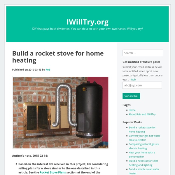 how to build a rocket stove for a greenhouse