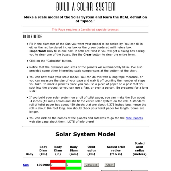 Build a Solar System Model | Pearltrees