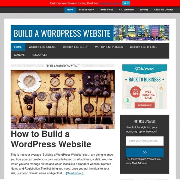 How To Build a Website with WordPress - Make Your Own Website / Blog