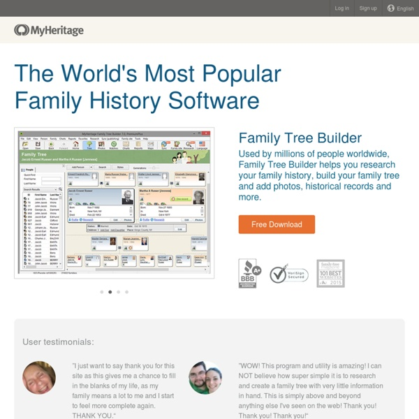 Family Tree Builder - Free genealogy program