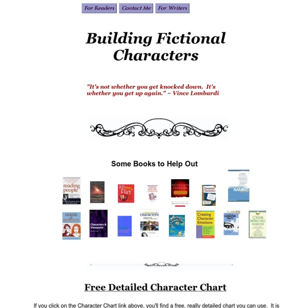 Building Fictional Characters