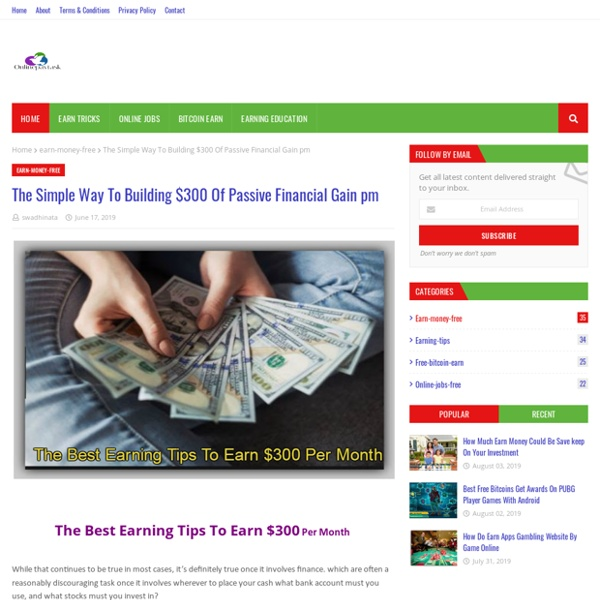 The Simple Way To Building $300 Of Passive Financial Gain pm