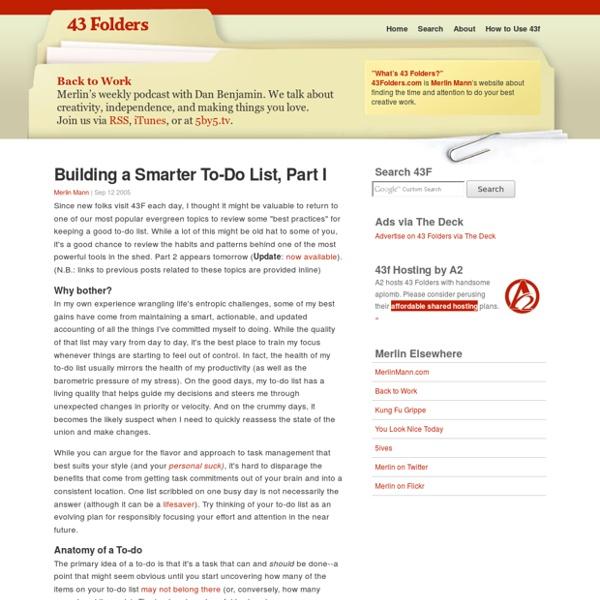 Building a Smarter To-Do List, Part I