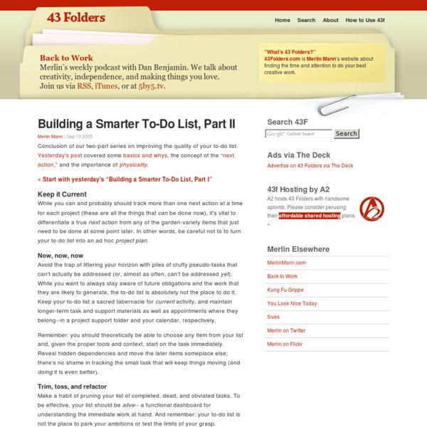 Building a Smarter To-Do List, Part II