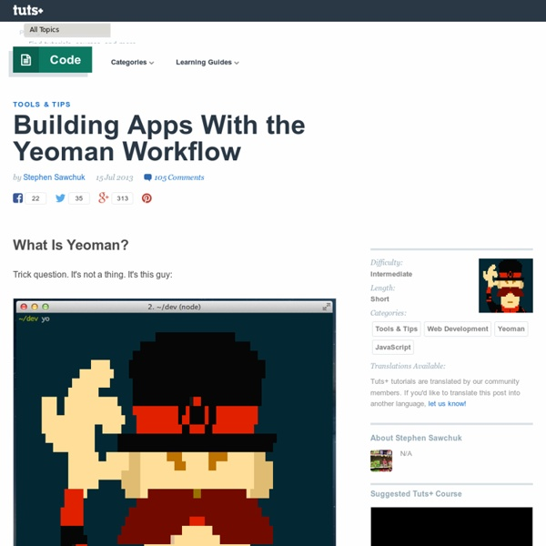 Building Apps With the Yeoman Workflow
