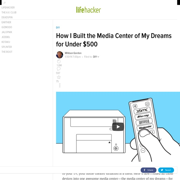 How I Built the Media Center of My Dreams for Under $500