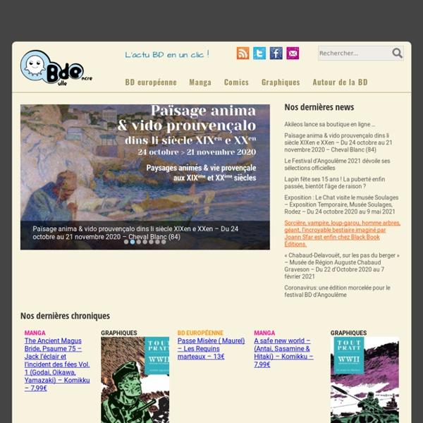 Bulle d'Encre - L'actu BD en un clic !