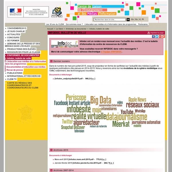 Infodoc, bulletin de veille - S'informer, se documenter