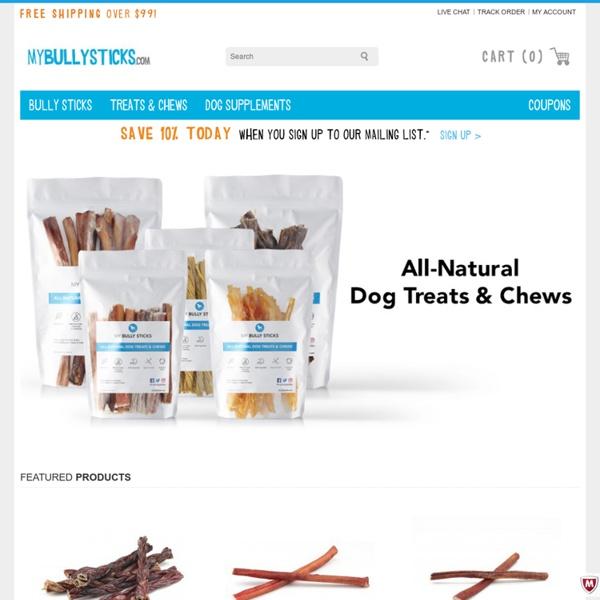 Bully Sticks - All Natural Dog Treats & Dog Chews