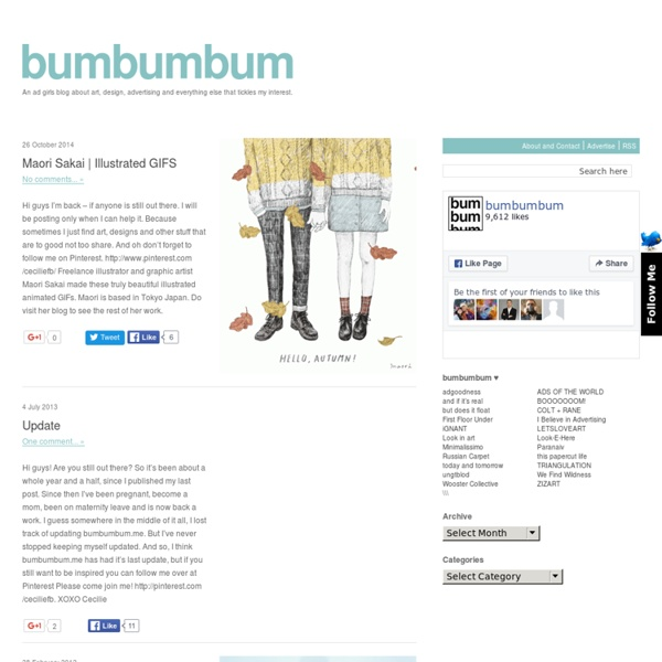 Bumbumbum - art, design and advertising blog