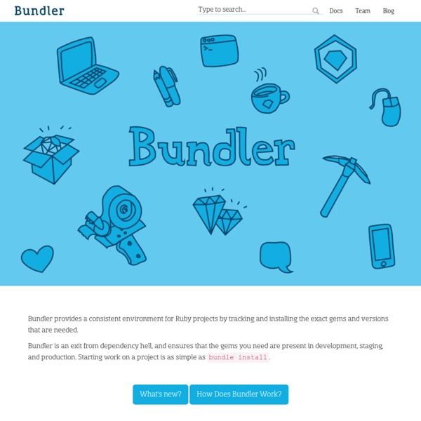 Bundler: The best way to manage a Ruby application's gems