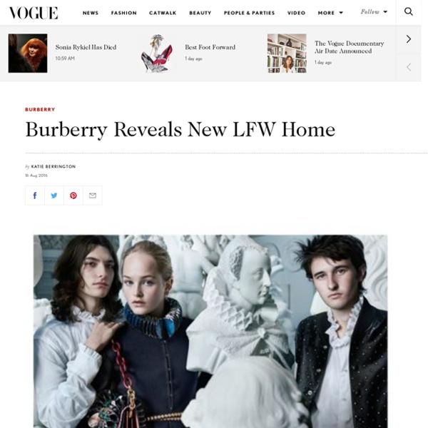 Burberry New London Fashion Week Home