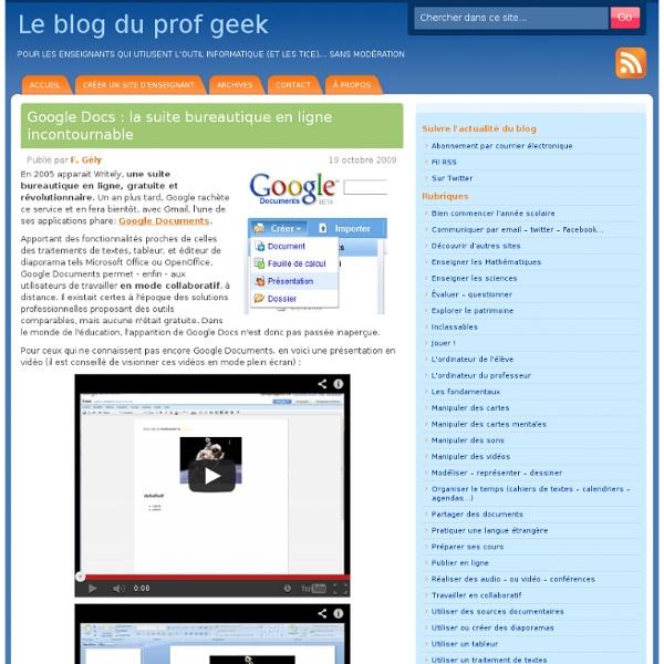 Google Docs : la suite bureautique en ligne incontournable