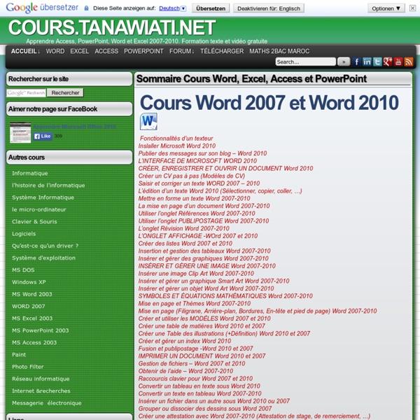 Cours tanawiati