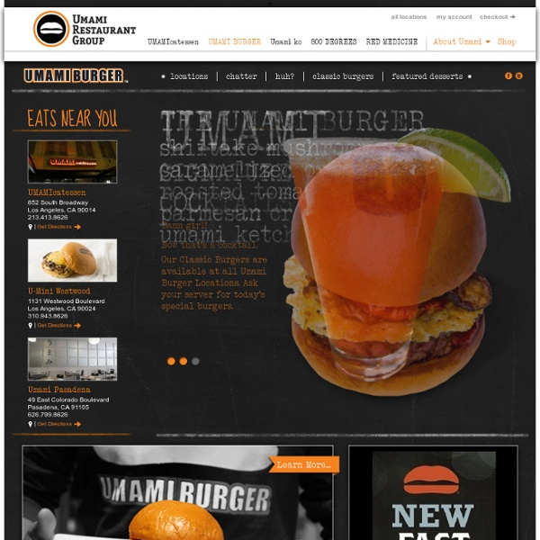 Burger - Umami Restaurant Group - Umami Burger & Umamicatessen, Los Angeles, California