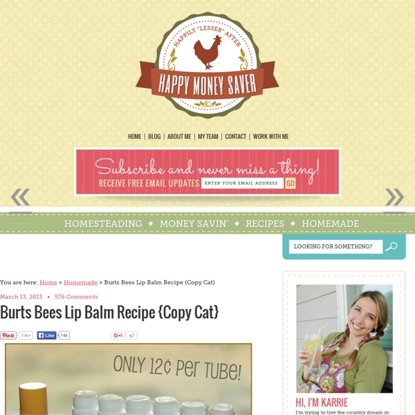 Burts Bees Lip Balm Homemade DIY Copycat Recipe