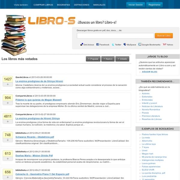 Libro-s! Buscador de libros para descargar gratis