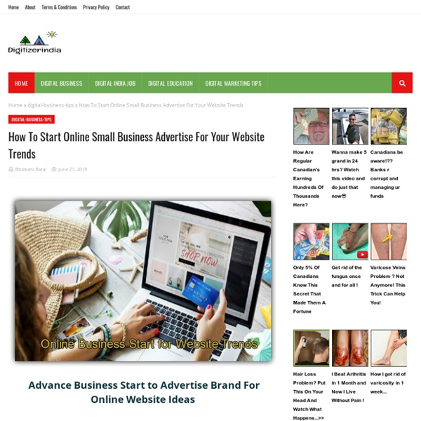 How To Start Online Small Business Advertise For Your Website Trends