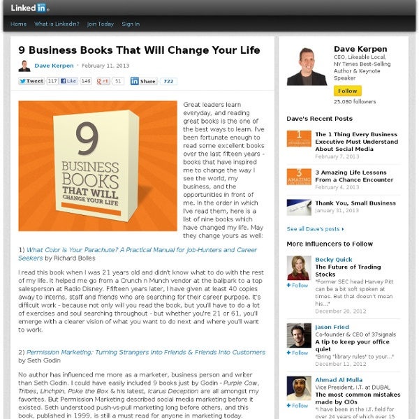 9 Business Books That Will Change Your Life