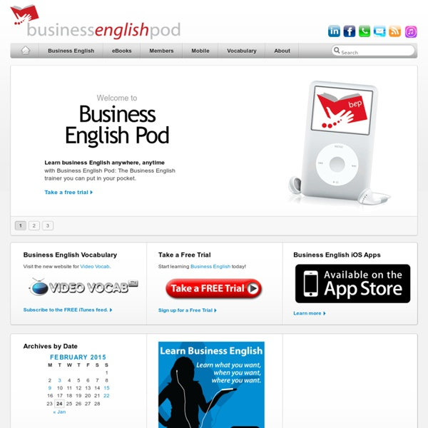Learn English Online with Free Business English Lessons