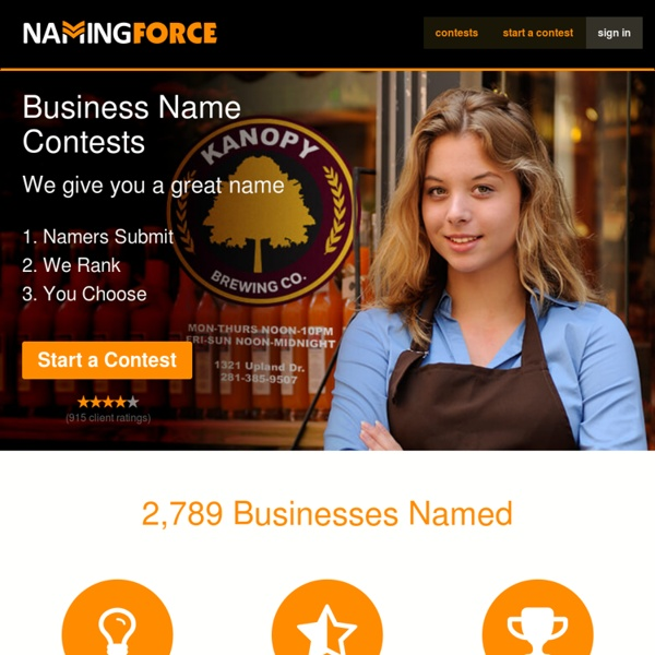 Business Name Contests - Naming Force