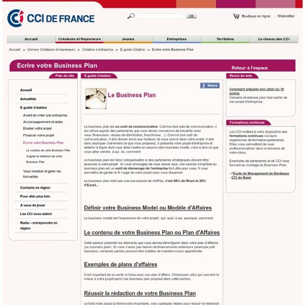 Ecrire votre Business Plan : étapes création d entreprise avec CCI.fr