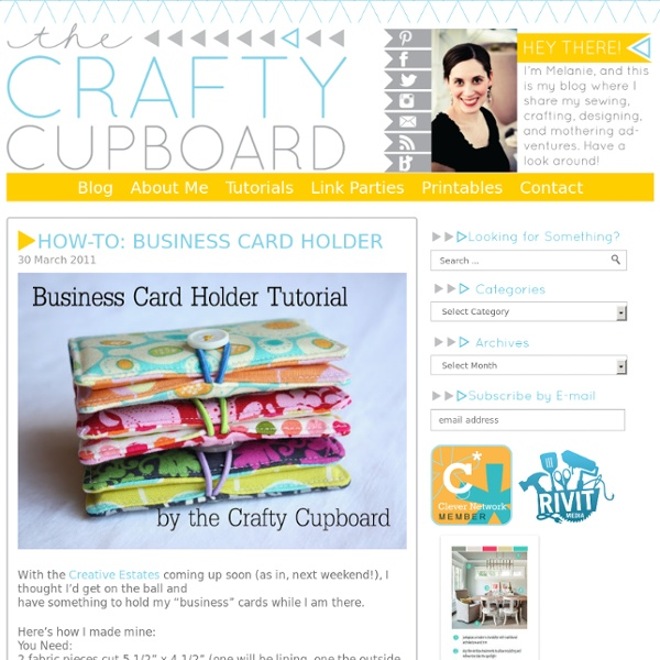 the crafty cupboard how to business card holder pearltrees