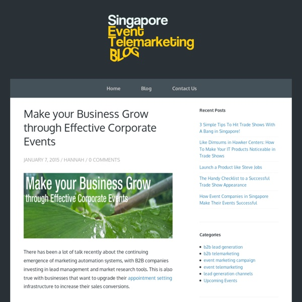 Make your Business Grow through Effective Corporate Events