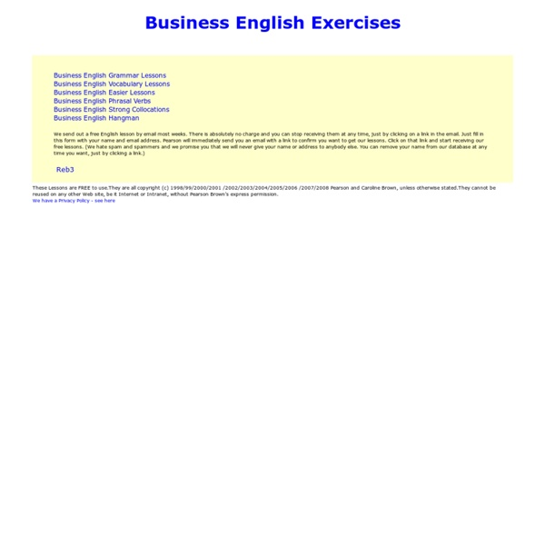 Business English Grammar Lessons