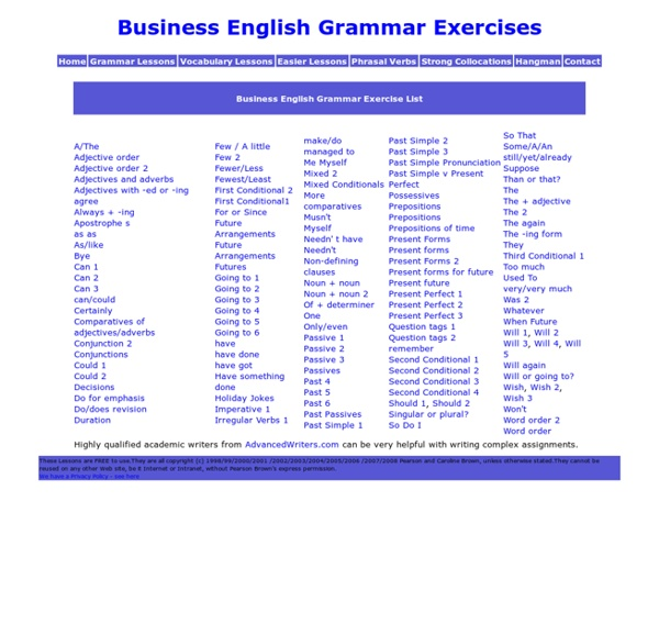 Business English Grammar Lessons