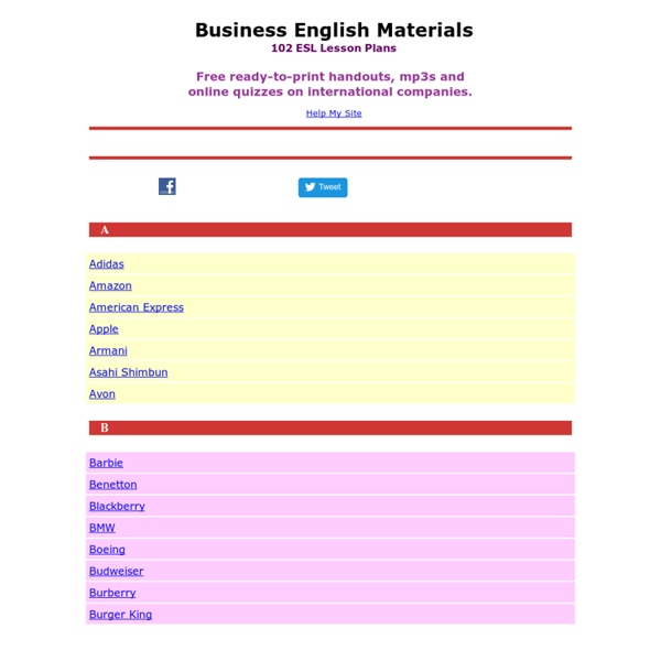 Business English Materials.com - Free Business English Lessons