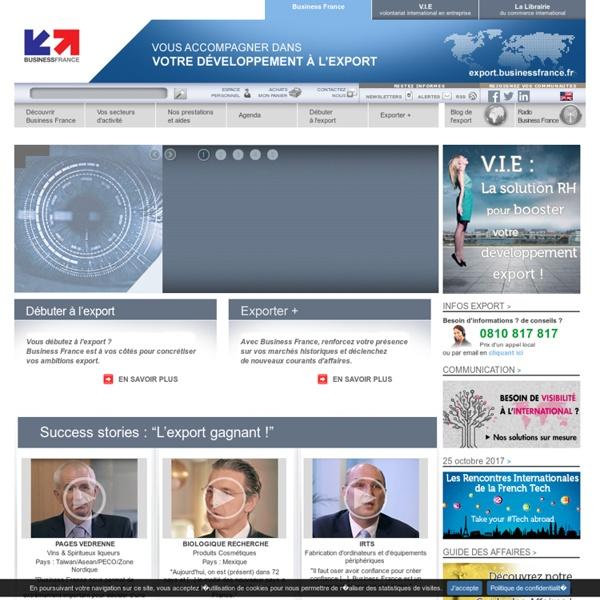Business France-Export et son réseau mondial