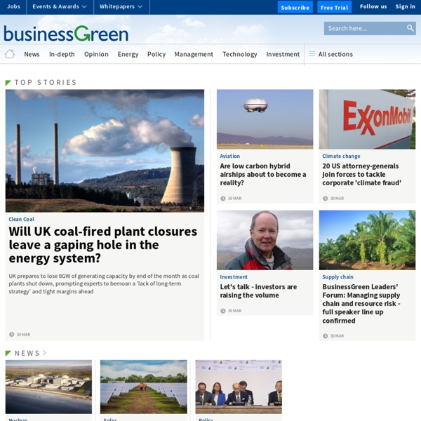 Business Green – news and analysis for the low carbon...