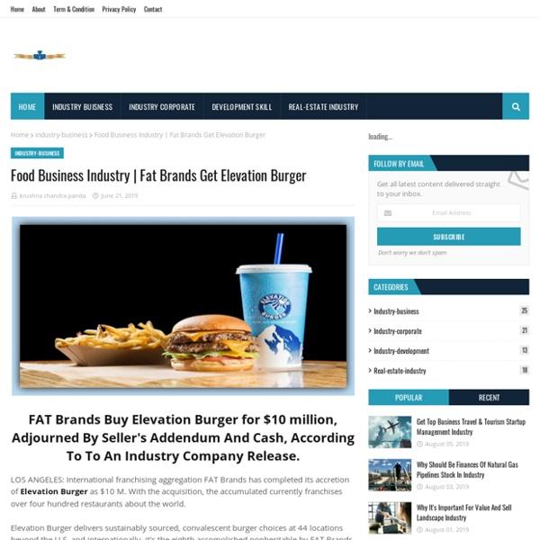 Fat Brands Get Elevation Burger