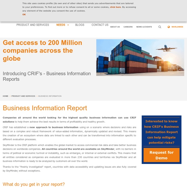 Get Up-to-Date Business Information Report & valuable Company Information From the Globe at your desk
