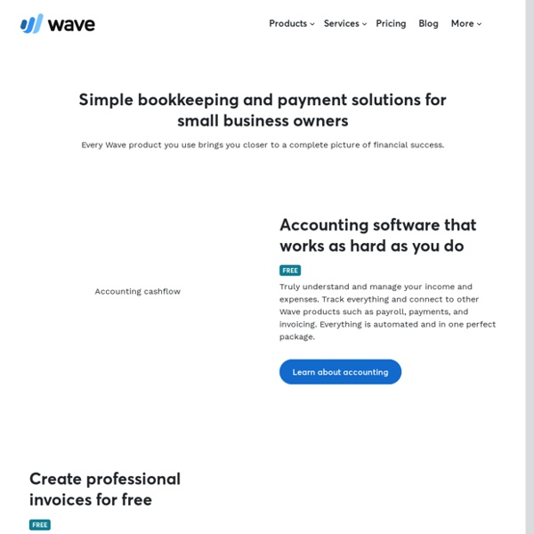 Small Business Software by Wave - Free Accounting and More