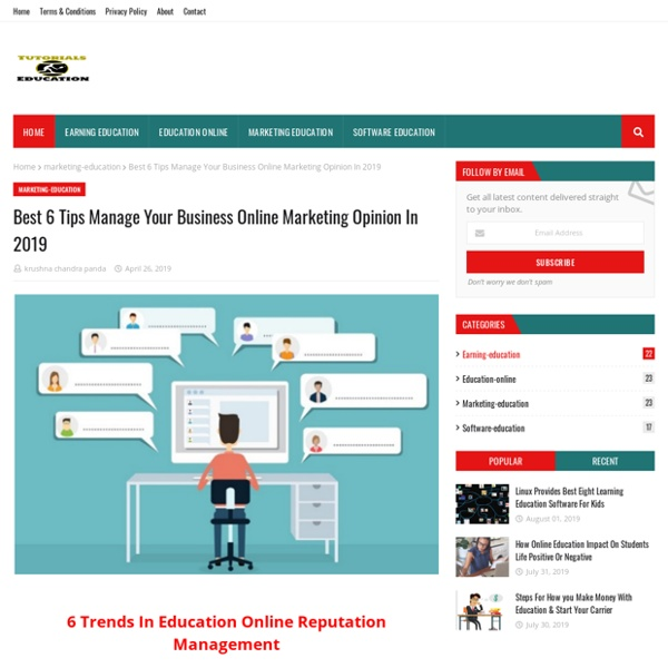 Best 6 Tips Manage Your Business Online Marketing Opinion In 2019