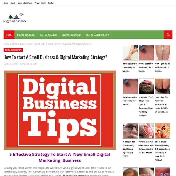 How To start A Small Business & Digital Marketing Strategy?