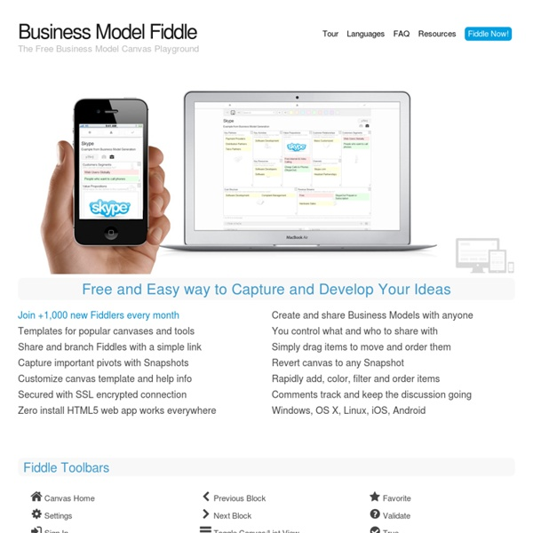 Business Model Fiddle
