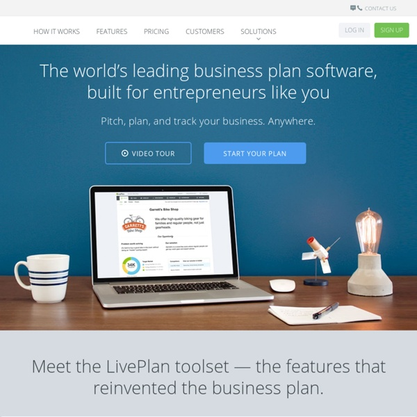Online Business Plan Software for Mac and PC - LivePlan