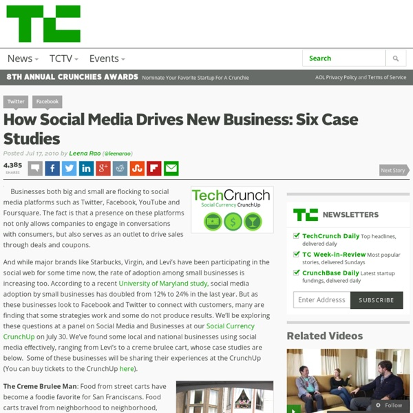 How Social Media Drives New Business: Six Case Studies