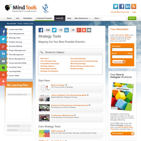 Business Strategy Tools and Techniques from MindTools.com