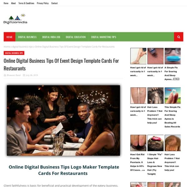 Online Digital Business Tips Of Event Design Template Cards For Restaurants