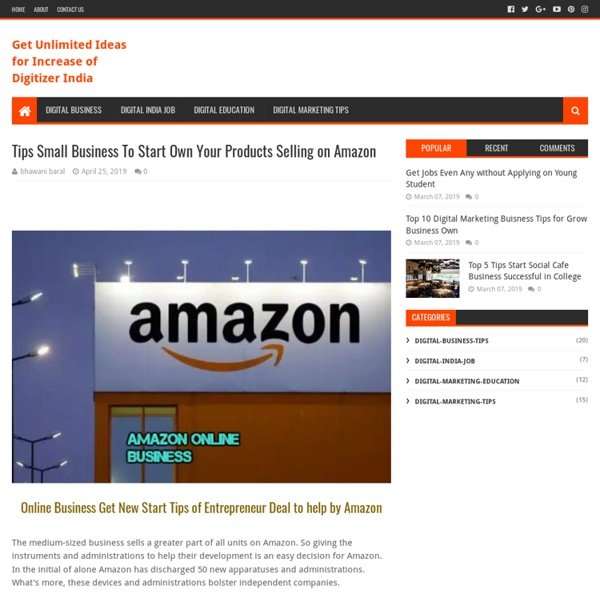 Tips Small Business To Start Own Your Products Selling on Amazon