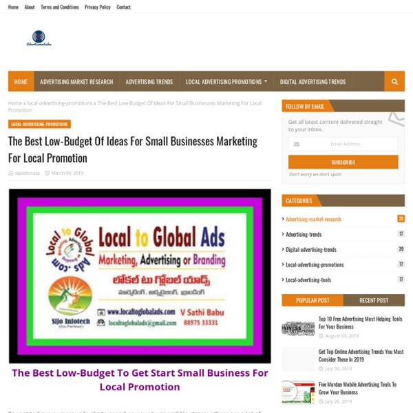 The Best Low-Budget Of Ideas For Small Businesses Marketing For Local Promotion