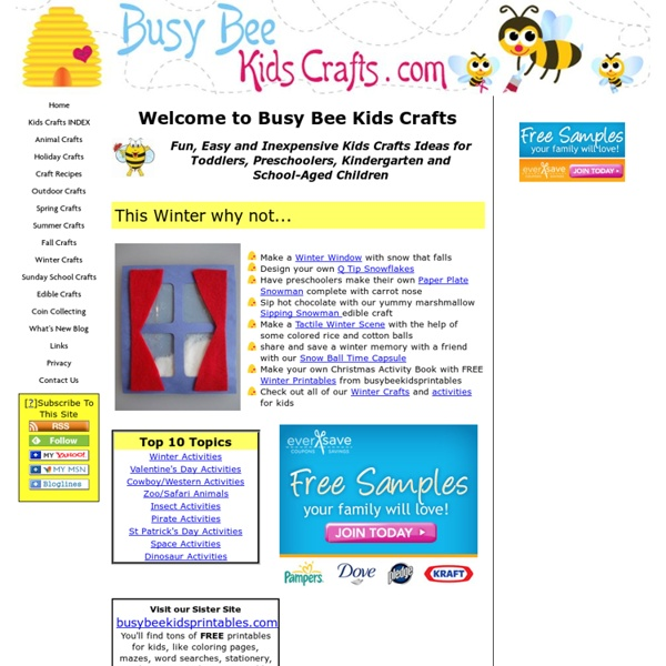 Busy Bee Kids Crafts: Fun and Easy Crafts for Kids
