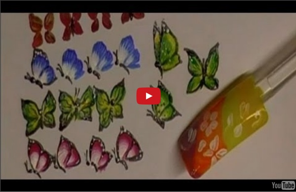 5 WAYS TO EASY ONE STROKE BUTTERFLY FOR NAIL ART - PRACTICE