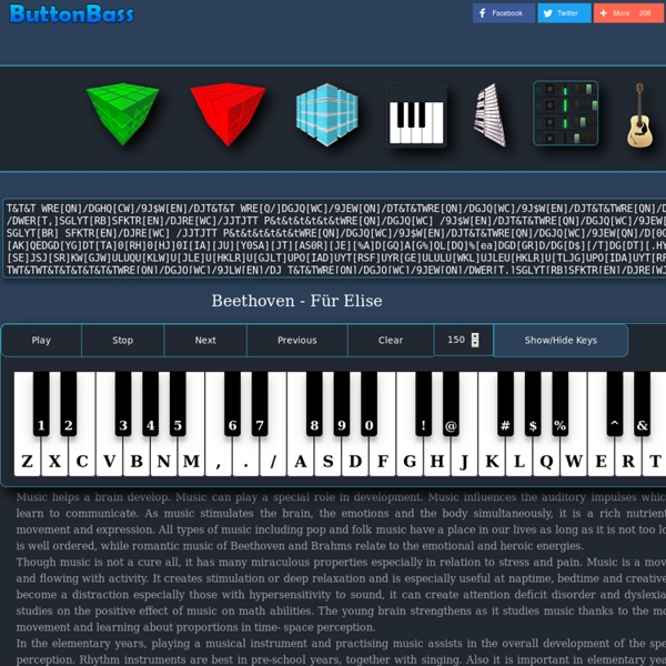 Button Beats Make Music online. Play the Virtual Piano With Your Keyboard.