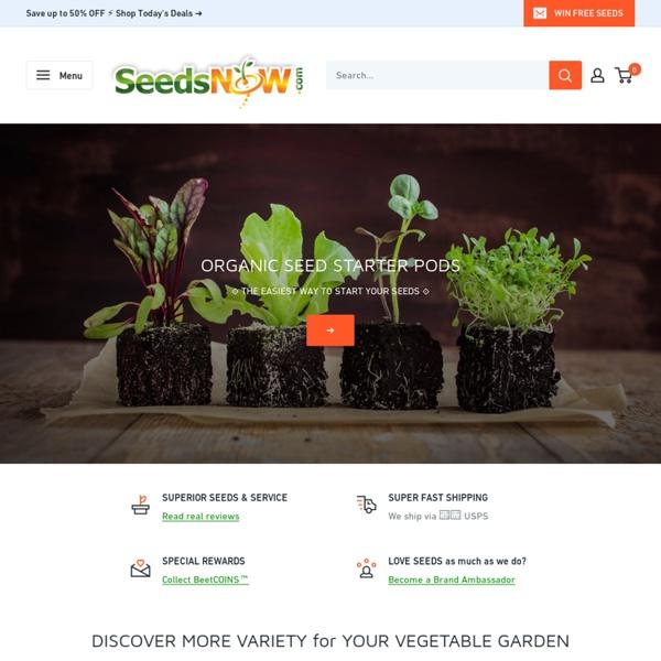 Buy Organic, Non-GMO, Non-Hybrid, Heirloom Vegetable Seeds Online