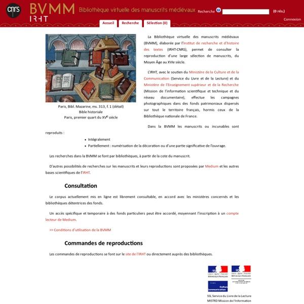 Bibliothèque Virtuelle des Manuscrits Médiévaux